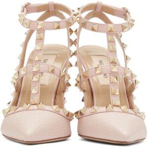 粉色铆钉鞋