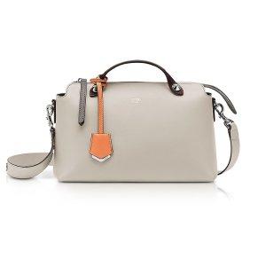 Fendi By The Way Regular Dust Gray Leather Satchel Bag