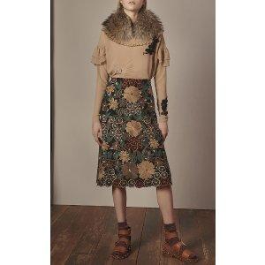 Floral Embroidered Pencil Skirt | Moda Operandi