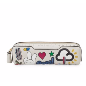 Anya Hindmarch - Graphic Leather Pencil Case - saksoff5th.com
