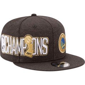 New Era Men's 2017 NBA Champions Golden State Warriors 9Fifty Black/Gold Adjustable Snapback Hat| DICK'S Sporting Goods