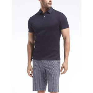 Slim Luxury-Touch Mix-Texture Polo
