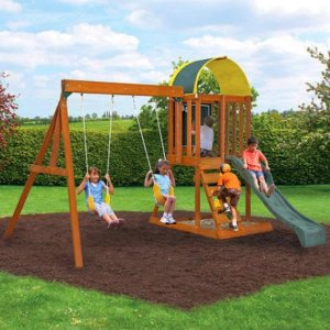 $299Cedar Summit Premium Play Sets Ainsley Ready to Assemble Wooden Swing Set