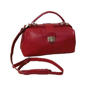 Amerileather Red Hillary Classic Leather Satchel | zulily