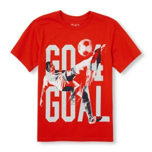 Boys Short Sleeve 'Go 4 Goal' Soccer Graphic Tee | The Children's Place