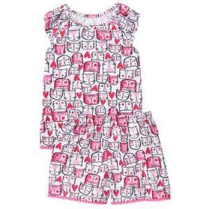 Toddler Girls Kitty Pink Kitty Hearts Sleep Set by Gymboree