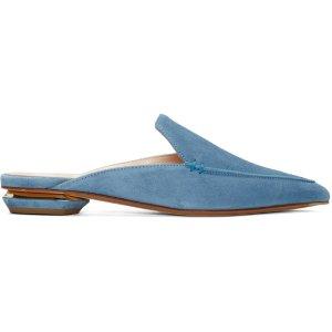 Nicholas Kirkwood: Blue Suede Beya Slip-On Loafers