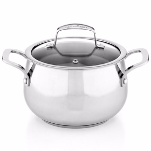Belgique Stainless Steel 3-Qt. Soup Pot with Lid, Created for Macy's