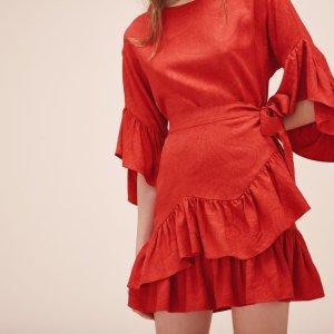 RAHIMA Short dress with frills - Dresses - Maje.com
