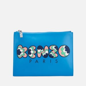 KENZO Women's Occasions A4 Pouch - Blue - Free UK Delivery over £50
