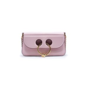 J.W. Anderson J.W. Anderson Women Pale Pink Small Leather Pierce Shoulder Bag | Bluefly.Com