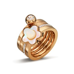 FIORI CHIC RING Rose Gold Plated - 3R14T027RWC
