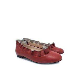 Fendi Leather Ballerina Flats