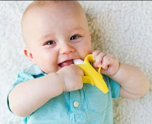 $5.83Baby Banana Infant Training Toothbrush and Teether, Yellow