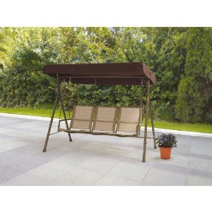 Mainstays Sand Dune 3-Seat Sling Swing, Dune  by Mainstays