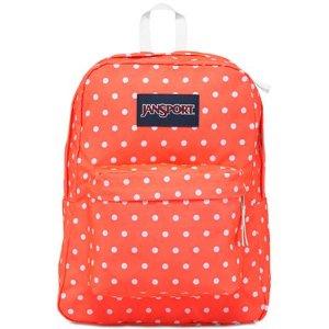 Jansport Superbreak Backpack in Tahitian Orange with White Dots - Backpacks - Luggage & Backpacks - Macy's