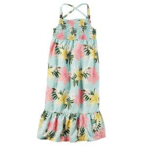 Toddler Girl Smocked Floral Maxi Dress | Carters.com