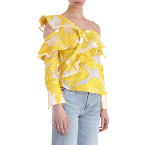 SELF-PORTRAIT Asymmetric Ruffle Blouse