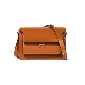 Trunk patent-leather shoulder bag