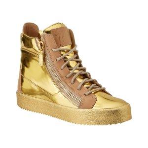 Giuseppe Zanotti Giuseppe Zanotti Metallic Leather High Top Sneaker (440053001) | Bluefly.Com
