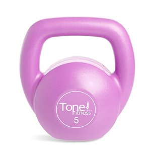 Tone Fitness Vinyl Kettlebell, 5-Pound, Pink : Sports & Outdoors
