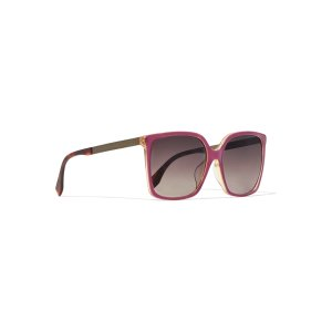 Square-frame acetate and metal sunglasses | Fendi