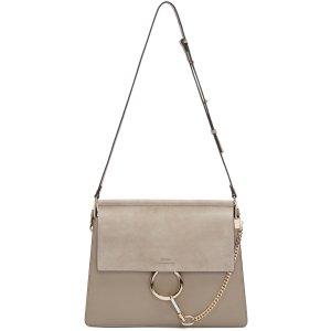 Chloé: Grey Medium Faye手袋