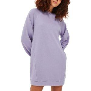 Topshop Balloon Sleeve Sweatshirt Dress