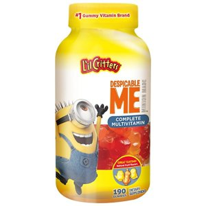 L'il Critters Minions Multivitamins Gummies, 190 Count (Packaging May Vary)