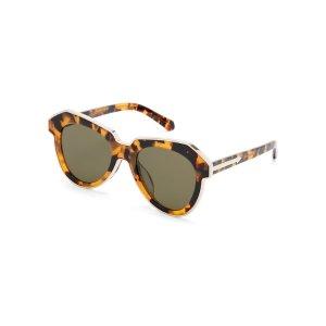 Tortoiseshell-Look One Astronaut Oval Sunglasses