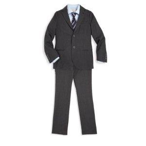 Little Boy's & Boy's Two-Piece Suit Jacket & Pants Set