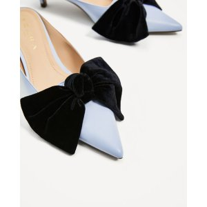 HEELED MULES WITH BOW - View all-SHOES-WOMAN | ZARA United States