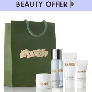 La Mer Yours with any $300 La Mer purchase�Online only*
