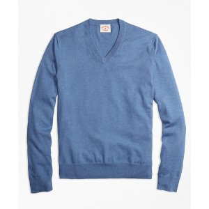 Cotton-Cashmere V-Neck Sweater - Brooks Brothers