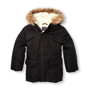 Boys Long Sleeve Faux Fur Hooded Parka | The Children's Place