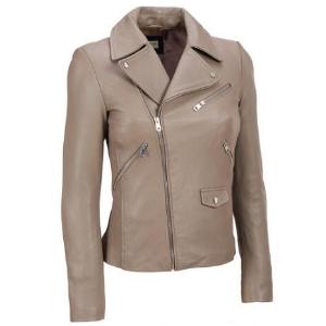Black Rivet Leather Cycle Jacket w/Notch Collar - Short - Women's & Plus Size - Wilsons Leather