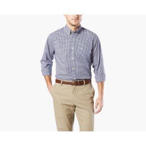 Big & Tall Soft No Wrinkle Shirt | MEDIEVAL BLUE GINGHAM | Dockers® United States (US)