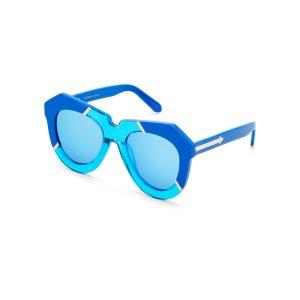 Blue One Splash XL Oval Sunglasses