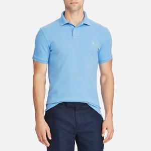 Polo Ralph Lauren Men's Weathered Mesh Short Sleeve Polo Shirt - Blue