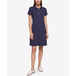 Tommy Hilfiger Short-Sleeve Polo Dress, Only at Macy's - Dresses - Women - Macy's