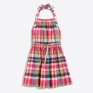 Girls' summer plaid dress : FactoryGirls Dresses | Factory