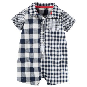 Baby Boy Gingham Romper | Carters.com
