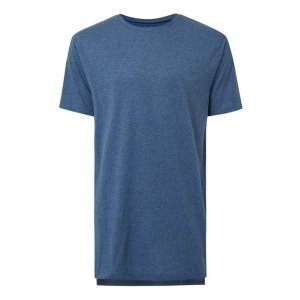 Dark Blue Salt and Pepper Step Hem Longline T-Shirt - View All Sale - Sale - TOPMAN USA