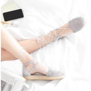 Stuart Weitzman - Walk My Way Glitter Espadrille Sandals - saksoff5th.com