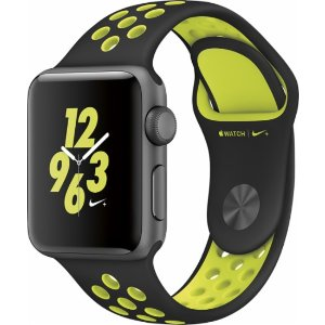 Apple Apple Watch Nike+ 38mm Space Gray Aluminum Case Black/Volt Nike Sport Band Gray MP082LL/A - Best Buy