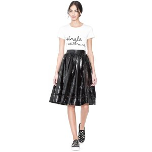 Rylyn Embroidered Short Tee | Alice + Olivia