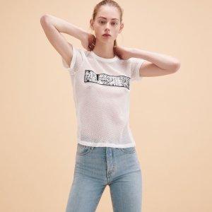 TELE Mesh T-shirt - Tops & T-Shirts - Maje.com
