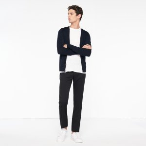 Fine Cardigan With Contrasting Details - Sweaters - Sandro-paris.com