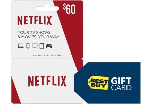 $60$60 Netflix Gift Card + $5 Gift Card