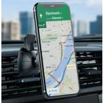 Magnetic Car Phone Mount, iSPECLE Phone Holder for Car Air Vent Car Cradles 360 Degree Rotation, Strong Car Mount Magnet for Smartphones iPhone 8 8 Plus 7 Plus 7 6S 6 Plus Samsung, Google Pixel Black